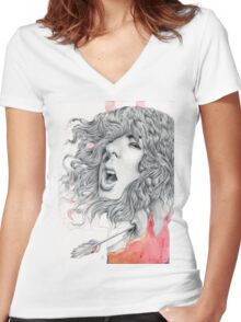 Futility of Words Women's Fitted V-Neck T-Shirt