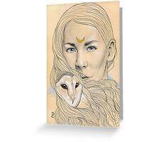 Owl Maiden  Greeting Card