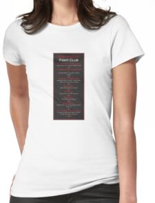 Fight Club - Welcome to Fight Club Womens Fitted T-Shirt