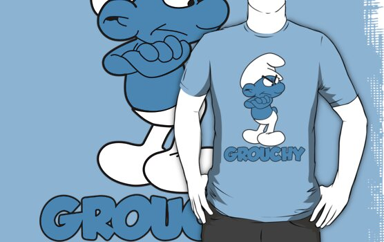 Grumpy Grouchy Smurf by keicker