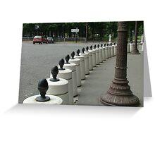 Bollards, Paris, France Greeting Card