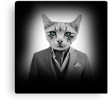 Business kitty Canvas Print