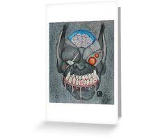 Cyborg Kitty Orc Greeting Card
