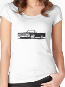 Lincoln Continental Convertible (1963) Black Women's Fitted Scoop T-Shirt
