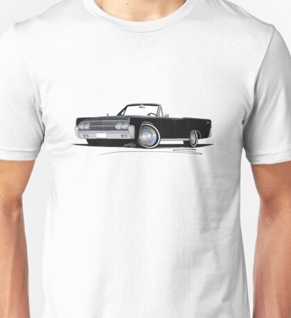 Lincoln Continental Convertible (1963) Black Unisex T-Shirt