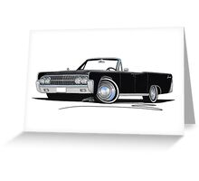 Lincoln Continental Convertible (1963) Black Greeting Card