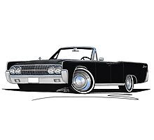 Lincoln Continental Convertible (1963) Black Photographic Print