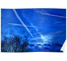 Evening Sky over Symonds Yat Poster