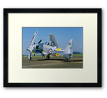 Hawker Sea Fury T.20 WG655/910-GN Framed Print