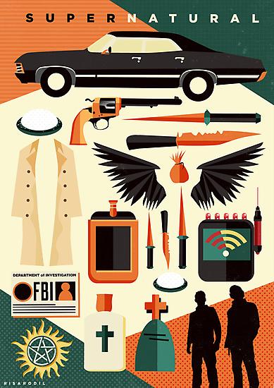 Supernatural Icons by Risa Rodil