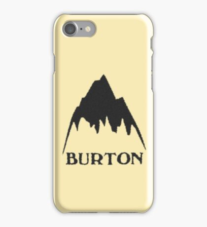 Vintage burton logo iPhone Case/Skin