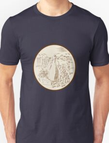 Olive Oil Jar Cheese Tuscan Countryside Etching T-Shirt