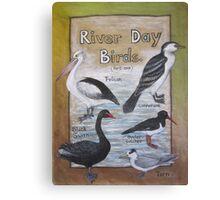 River Day Birds  Canvas Print
