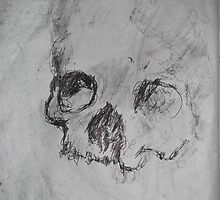 National Gallery/Skull -(260413)- A4 sketchbook white + black pen/gray pencil by paulramnora