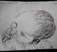 Female Baby Head -(280413)- A5 sketchbook white/Black biro pen by paulramnora