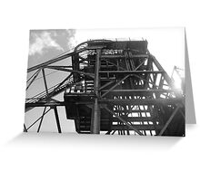 Haig Pit Colliery, Pit head, Whitehaven, Cumbria, UK Greeting Card