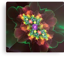 Flower Gems Metal Print