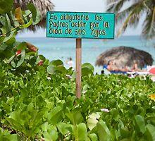 Beach Sign - Cuba by sallyrose1