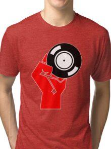 Vinyl Propaganda - Record DJ Tri-blend T-Shirt