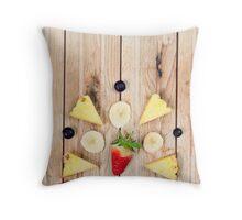 Deconstructed Fruit Salad Throw Pillow