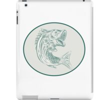 Largemouth Bass Fish Oval Etching iPad Case/Skin