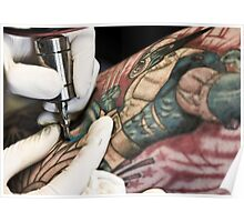 Tattooing Wolverine.  Poster