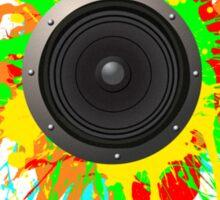 Speaker Splatter Sticker