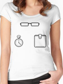 Spectacles... Women's Fitted Scoop T-Shirt