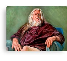 Dedicate to the great living master Canvas Print