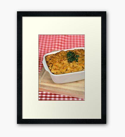 Macaroni and Cheese.  Framed Print