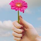 Surreal Hand holding Flower by sallyrose1