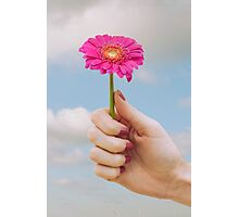 Surreal Hand holding Flower Photographic Print