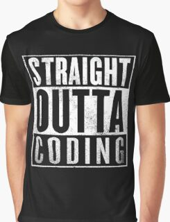 Straight Outta Coding Graphic T-Shirt