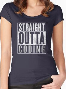 Straight Outta Coding Women's Fitted Scoop T-Shirt