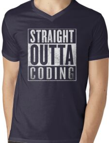 Straight Outta Coding Mens V-Neck T-Shirt