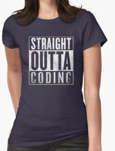 Straight Outta Coding Womens Fitted T-Shirt