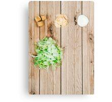 Deconstructed Caesar Salad.  Canvas Print
