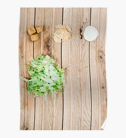Deconstructed Caesar Salad.  Poster
