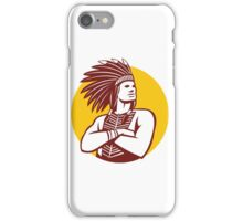 Native American Indian Chief Warrior Circle Retro iPhone Case/Skin