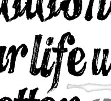 Parks & Recreation - [Black] Can You Photoshop Your Life With Better Decisions? - Typography quote Sticker