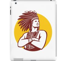 Native American Indian Chief Warrior Circle Retro iPad Case/Skin
