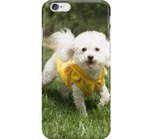 Cute White Doggy Running.  iPhone Case/Skin