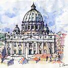 S. Pietro a Roma  by Luca Massone  disegni