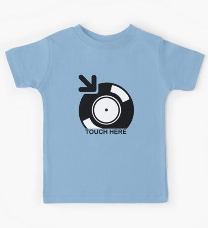 Vinyl Touch Here Kids Tee