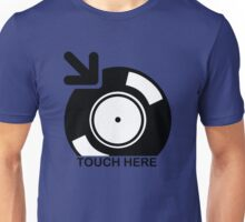 Vinyl Touch Here Unisex T-Shirt