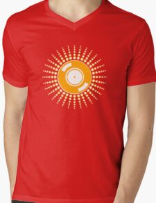 Vinyl Sunshine Mens V-Neck T-Shirt