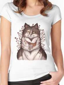 Blooming Cat Women's Fitted Scoop T-Shirt