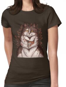 Blooming Cat Womens Fitted T-Shirt