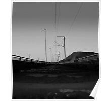 Rail over Gariep Dam  Poster