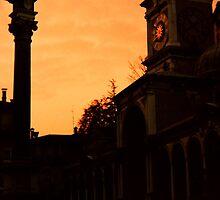 Clock Tower at Dusk by Karen  Rubeiz